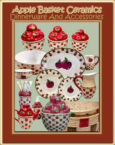 Apple Kitchen Stuff | Apple Basket Collection - Apple Themed Dinnerware - Table Linens