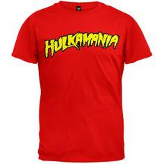 Hulk Hogan - Hulkamania Red Soft T-Shirt | OldGlory.com