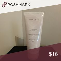 FINAL PRICE W/O BUNDLING. MARY KAY 2-in-1 Body wash and shave gel.  NIP (SHRINK WRAPPED) Mary Kay Makeup