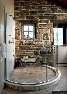 35 Amazing Raw Stone Bathroom Design Ideas