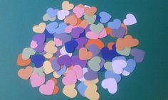 Cuori/colori pastello/fustellati/       100 cuori fustellati