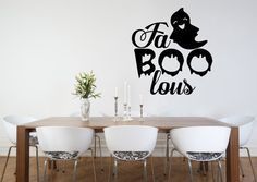 FaBOOlous Wall Decal  Etsy listing at https://www.etsy.com/listing/246999509/halloween-decal-halloween-wall-decal