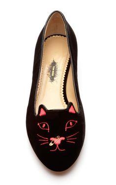 Kitty Anarchy Flat by Charlotte Olympia x Tom Binns Now Available on Moda Operandi