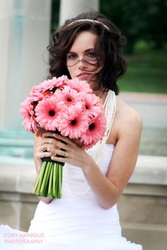 simple bouquet of gerber daisies.