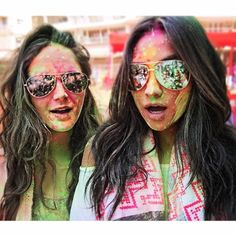 Shay Mitchell having fun at the Holi Festival in India!