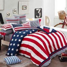 New 2014,American Flag Bedding Set,Modern Designer Comforters And Bedding Sets