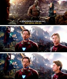 How many times have you seen infinity war? #robertdowneyjr #ironman #tomholland #spiderman #pomklementieff #mantis #drax #davebautista #avengersinfinitywar #marvel #movies