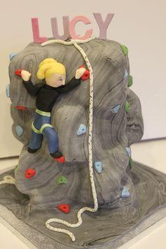 Climbing wall rock climbing cake