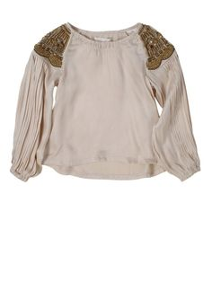 Pale Cloud  The Holly Top is a stand out style from the Pale Cloud Autumn Winter 2012 Collection. Made from 100% Sand Washed Silk in Pale Pink, your eyes are immediately drawn to the intricate and beautifully beaded shoulder detail, with each bead hand sewn!  100% Silk