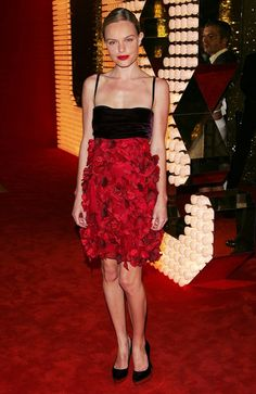Kate Bosworth in a beautiful rose-embellished frock at the 2006 D&G Party in Cannes, France