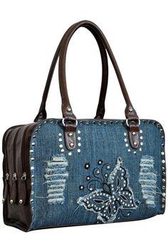 $36.99  Denim Butterfly Fashion Bag