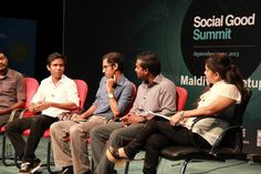 "The Social Good Summit Maldives Meetup was held on September 24, 2013, and tackled the topic of ""Equality through Access to Information – Democracy in 2030"". Photo: UNDP Maldives 2013. — with Ahmed Afruh Rasheed, Ib Nawaf, Aiman Rasheed Ibrahim, Jawish Hameed and Mariyam Waheeda."