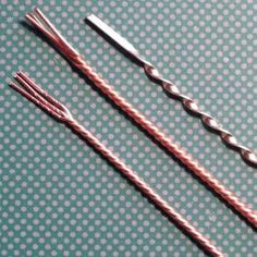 Learn how to twist round or flattened wire simply with a Dremel tool. by jillian