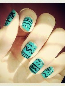 nail art tribal - Buscar con Google