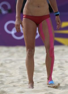 Kinesio Tape at London 2012 Olympics K Tape, Colored Tape, Kinesiology Taping, Physical Therapy, Pain Relief, Olympics, Massage, Health Fitness, Medical