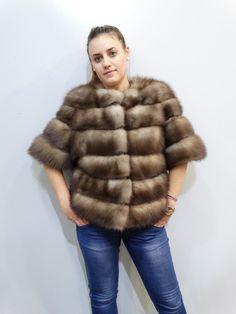 Real Marten Fur Jacket with leatherreal furfur by FilimegasFurs Jacket Style, Fur Jacket, Fur Fashion, Winter Jackets, Fur Coats, Sleeves, Model, Color, Etsy