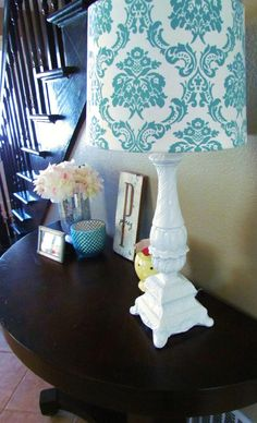 Fabulous thrift store lamp redo - Top 60 Furniture Makeover DIY Projects and Negotiation Secrets from DIY & Craft Furniture Projects, Furniture Making, Furniture Makeover, Furniture Decor, Home Projects, Painted Furniture, Lamp Makeover, Modern Furniture, Bedroom Furniture