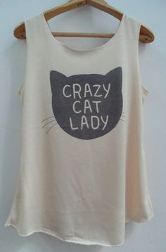 Crazy Cat Ready Shirt   Shirt Cat TShirt Animal by vintageartshirt, $15.00