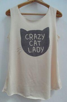 Crazy Cat Ready Shirt   Shirt Cat TShirt Animal di vintageartshirt.