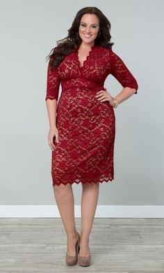 Kiyonna Boudoir - Red Lace Dress || Plus size | Full figure curves