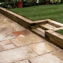 Wooden Garden Retaining Wall How To Build A Wood Retaining Wall Build A Retaining Wall How To Build Retaining Wall Small Wood Retaining Walls Ltd Railroad Ties Landscaping, Landscaping Retaining Walls, Backyard Landscaping, Landscaping Ideas, Landscape Borders, Landscape Design, Garden Design, Back Gardens, Outdoor Gardens