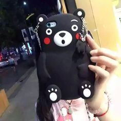 """Find More Phone Bags & Cases Information about 3D cartoon Kumamon bear silicone phone case for iphone 5 5s SE 6 6s / 6 plus 6s plus 4.7""""5.5"""" inch phone cover with Carry chain,High Quality Phone Bags & Cases from Neuss Store on Aliexpress.com"""