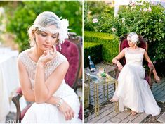 The Great Gatsby Inspired Veils and Hairstyles