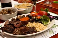 """""""If you're the type of person who likes to have meat sweats for days, then welcome to Le Milsa. And no, those aren't meat-induced hallucinations, there really are samba dancers around the restaurant! Roasted Pineapple, Turkey Wraps, Sauteed Mushrooms, Grilled Pork, Roast Beef, Sweet Potato, Bacon, Bbq, Montreal Qc"""