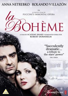 In La Boheme was adapted for the big screen starring soprano Anna Netrebko and tenor Rolando Villazon. Sound Of Music, Listening To Music, Opera Singers, Concert Posters, Movie Posters, Classical Music, Radios, Music Artists, Album Covers