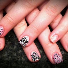 Gel with stamping