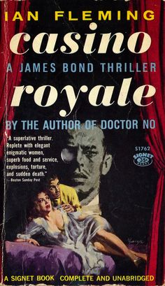 James Bond 007 in Casino Royale Gentlemans Club, Book Cover Art, Book Art, Detective, 007 Casino Royale, James Bond Books, Pulp Fiction Book, Bond Girls, Thing 1