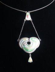 antique jewellery art nouveau silver enamel pen