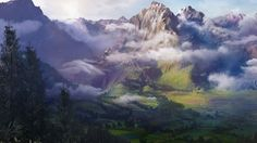Cloudy Overflow by Justin Gladis | Matte Painting | 3D | CGSociety
