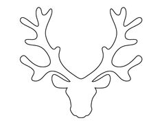 printable reindeer antlers pattern use the pattern for crafts