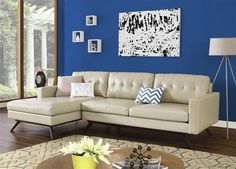 Blake Elegant Eco Leather Wood Living Room Set