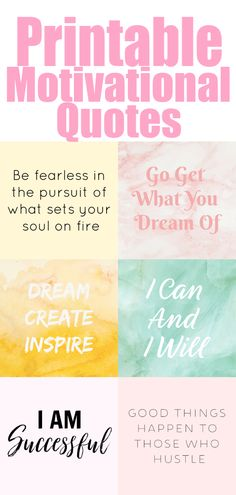 20 Printable Motivational Quotes For Your Vision Board - The Clever Side Spread the love Keep scrolling to see all the printable motivational quotes! The links… Inspirational Artwork, Free Inspirational Quotes, Motivational Cards, Motivational Quotes For Students, Quotes For Kids, Gratitude Challenge, Travel Picture, Free Printable Quotes, Free Printables