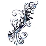 Filligree Tattoo With Childrens Names Entry 1 Color Option 2 ... This ia what I want for my babies names! ABSOLUTELY BEAUTIFUL!!!