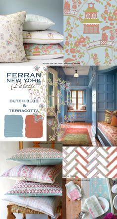 Ferran Palette : Dutch Blue and Terracotta – Ferran-New York