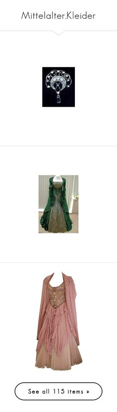 """""""Mittelalter.Kleider"""" by sunnyday-98 ❤ liked on Polyvore featuring dresses, gowns, costume, long dresses, ball gowns, brown, medieval, period costumes, costumes and peasant costume"""