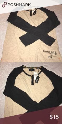 Buffalo Raglan Shirt Raglan Tee with front pocket by Buffalo David Bitton Buffalo David Bitton Shirts Tees - Long Sleeve