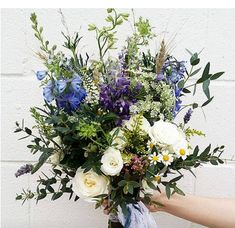 Favourite Bridal Bouquets with Amborella Floral Studio Blue Flowers Bouquet, Bridal Flowers, Flower Bouquet Wedding, Flower Centerpieces, Flower Arrangements, Mother Of Bride Corsage, Church Wedding Decorations, Magical Wedding, Wedding Colors