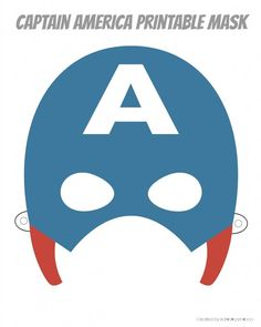 If you are looking for a last minute costume, or if you just feel like playing a little dress up these printable hero masks are perfect. Captain America Maske, Captain America Party, Captain America Birthday, Printable Heroes, Printable Masks, Templates Printable Free, Printables, Certificate Templates, Applique Designs