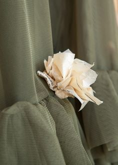 Old clothes patterns make beautiful delicate flowers to attach to clothing, hair clips, etc.