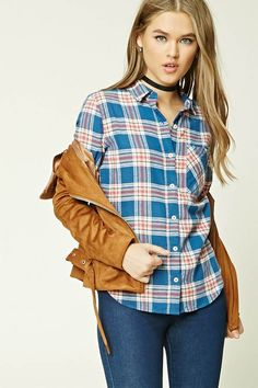 FOREVER 21 Tartan Plaid Flannel Shirt | Style Inspiration | Women's Fashion | College Wardrobe | College Style | Outfit Inspiration #affiliate