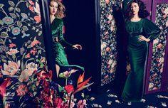 Liu Wen, Tian Yi, Xiao Wen, Lindsey Wixson, Daria Strokous & Marie Piovesan Wear Falls Seductive Styles for Vogue China September 2012