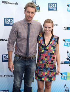 American actress and singer, Kristen Bell and her husband, Dax Shepard...