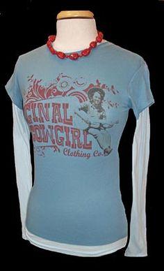 Original Cowgirl Two Tone Tee Shirt