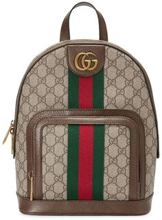 Shop Gucci Ophidia Small Backpack In Beige from stores. Ophidia small backpack from Gucci with Gucci pattern and WEB detail Guccio Gucci, Gucci Purses, Burberry Handbags, Women's Handbags, Chanel Handbags, Luxury Handbags, Fashion Handbags, Herschel Rucksack, Laptop Rucksack