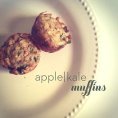 apple kale muffin recipe. Tried these and they are yummy, perfect as a breakfast muffin or for a quick lunch.