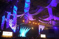 Atomic Tetra Columns at Summer Sonic Music Festival